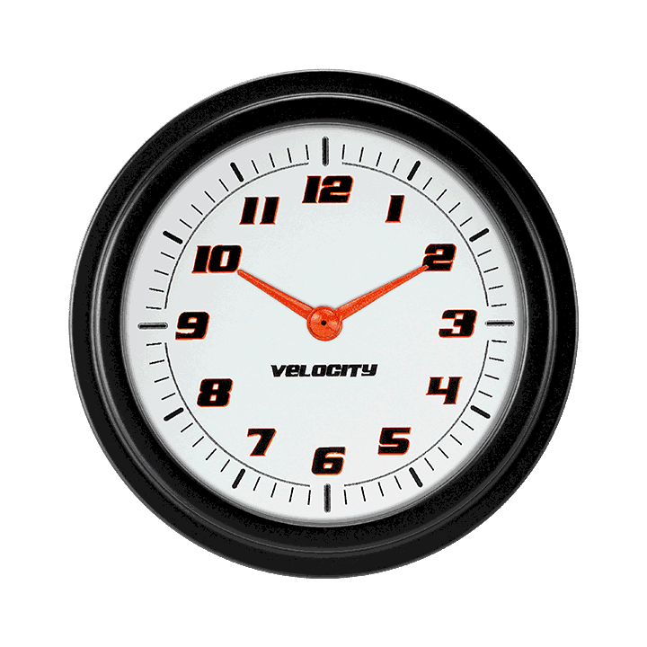 "Picture of Velocity White 2 5/8"" Clock"