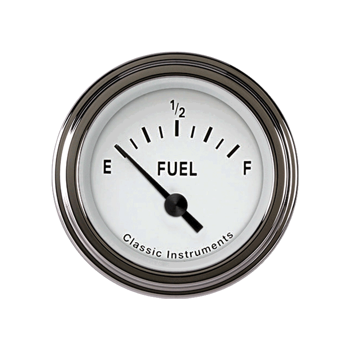 Picture of Tetra Series, White Fuel Gauge 75-10