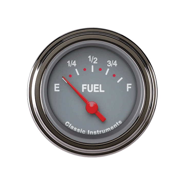 Picture of Tetra Series, Gray Fuel Gauge 0-90