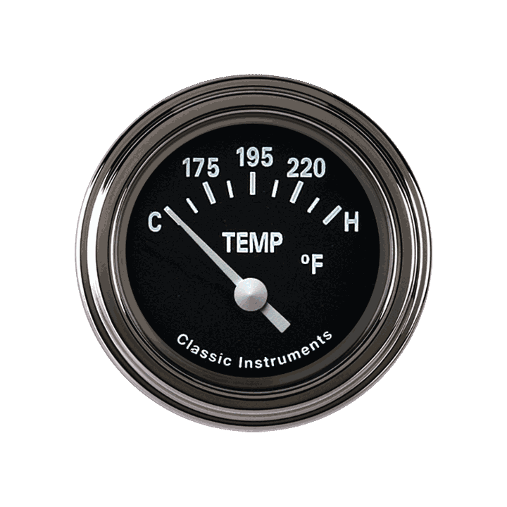 Picture of Tetra Series, Black Temp Gauge