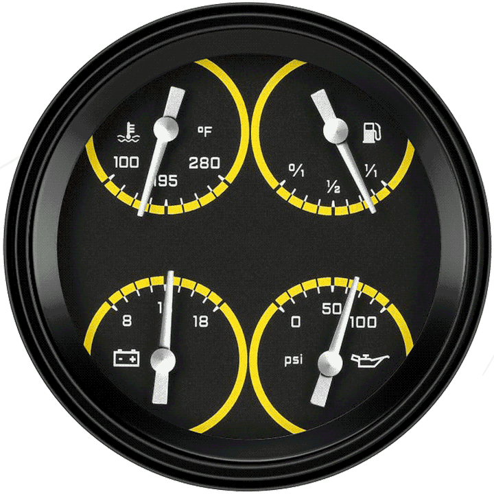 "Picture of AutoCross Yellow 4 5/8"" Quad"