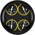 "Picture of AutoCross Yellow 4 5/8"" Quad"