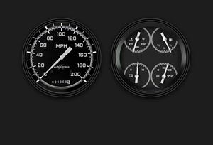 Picture of AutoCross Gray Two Gauge Set