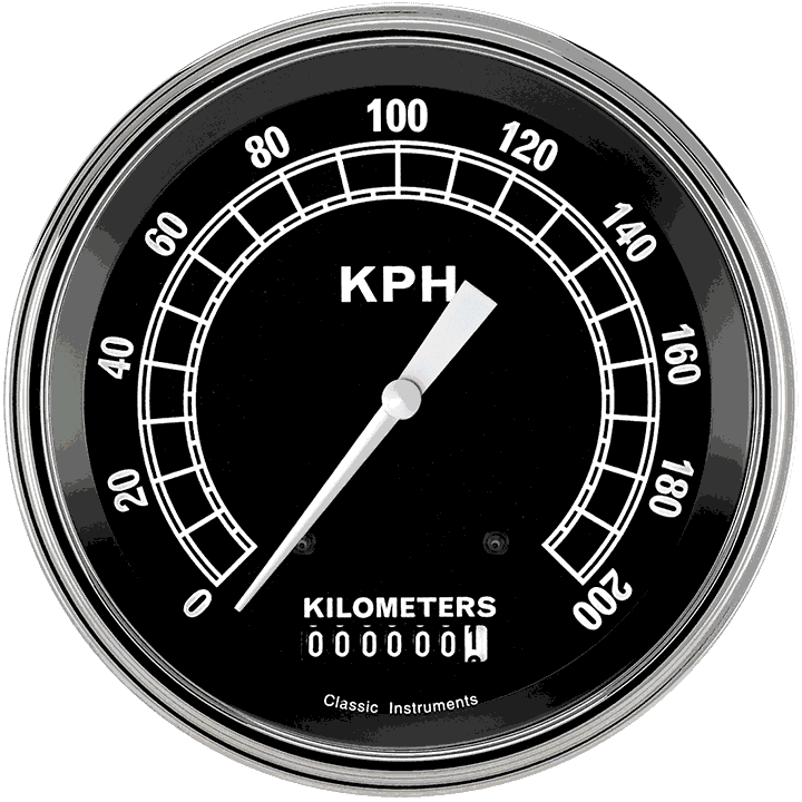 "Picture of Traditional 4 5/8"" Speedometer"