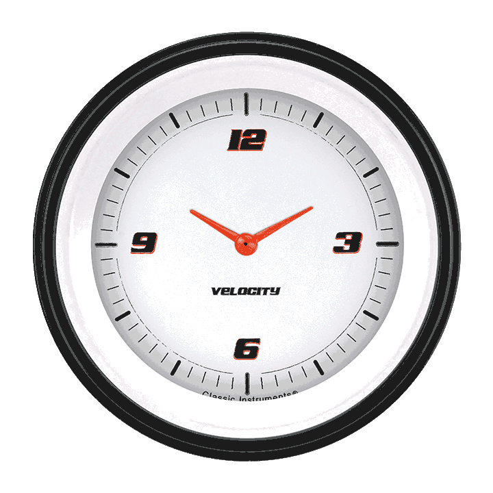 "Picture of Velocity White 3 3/8"" Clock"