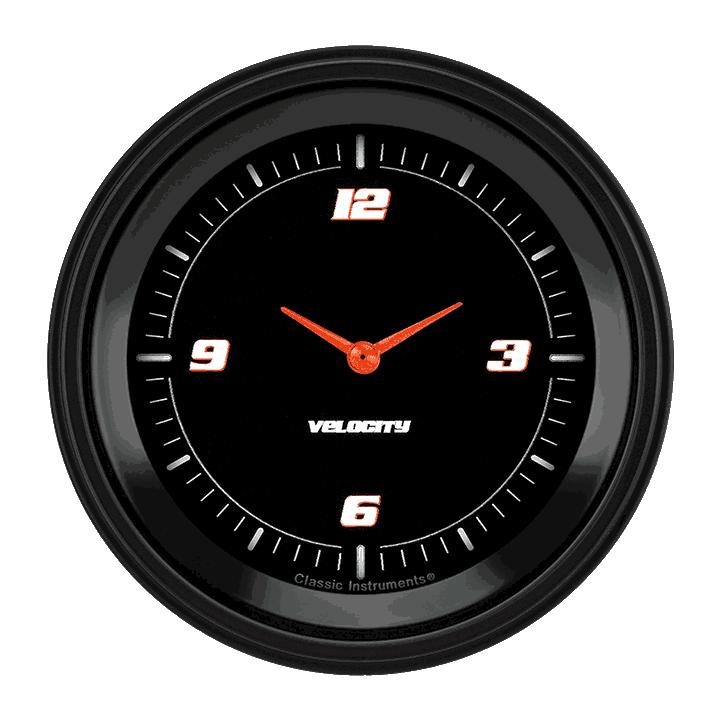 "Picture of Velocity Black 3 3/8"" Clock"