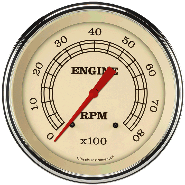 """Picture of Vintage 4 5/8"""" Tachometer"""