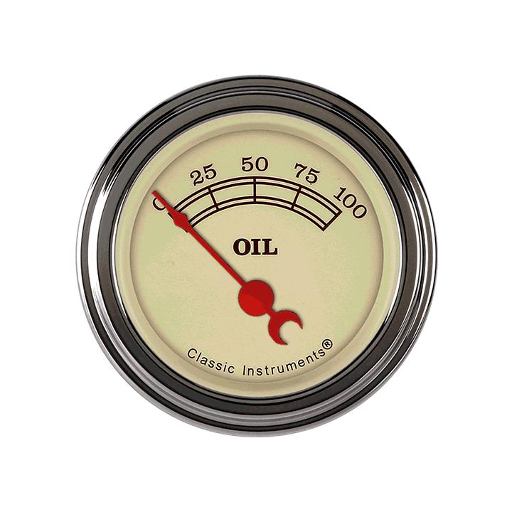 "Picture of Vintage 2 1/8"" Oil Pressure"
