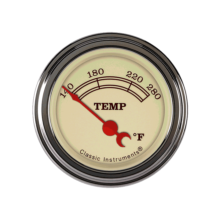 """Picture of Vintage 2 1/8"""" Water Temp"""