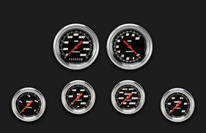 Picture of Velocity Black Six Gauge Set 301, Aluminum Performance Bezel